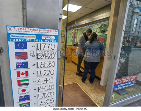 bureau de change south kensington foreign currency stock photos foreign currency stock