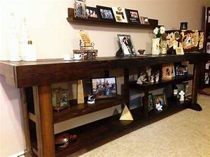 Ana white living room console table diy projects for Console living room