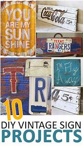 10, Vintage, Sign, Ideas, Projects, And, Tutorials