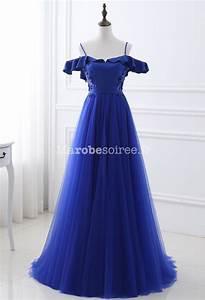 robe de soiree bleue epaules denudees With robe de mariée bleu roi