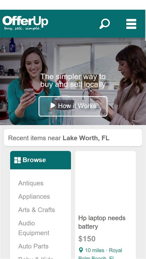 offerup buy sell simple free windows phone app market