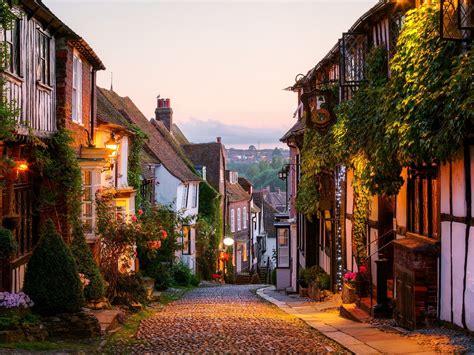 beautiful small towns   uk rye england