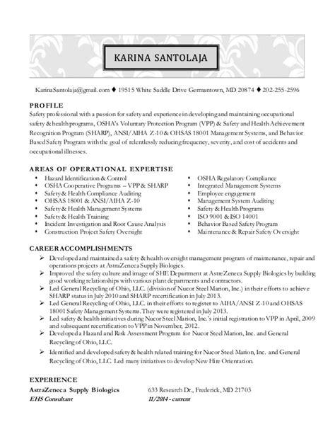 santolaja resume safety professional