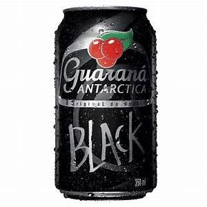Em Lata Preta  Antarctica Lan U00e7a Guaran U00e1 Black  Com A U00e7a U00ed