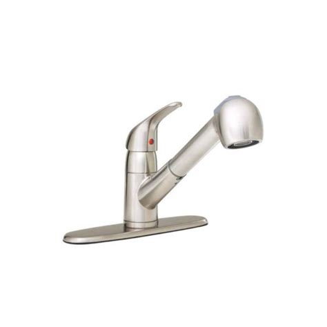 proflo kitchen faucet proflo pfxc5150bn brushed nickel pullout spray kitchen faucet with multi flow faucet head