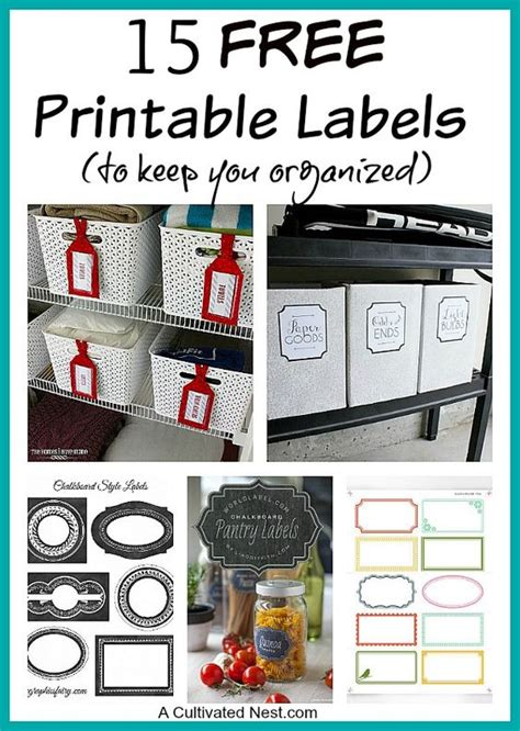 printable labels  organizing solo  jars  home