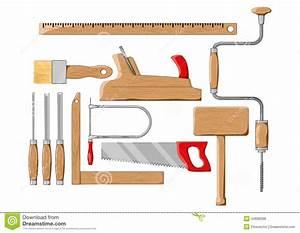 Carpenter Tools Color Silhouette Vector Illustration