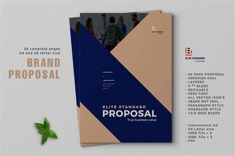 proposal brochure templates creative market