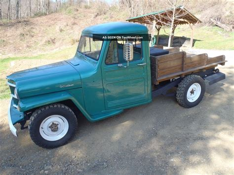 willys jeep truck green 1963 willys jeep truck