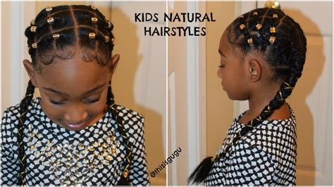 kids natural hairstyle alicia keys inspired rubber band