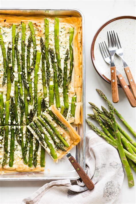 asparagus phyllo tart produce  simple