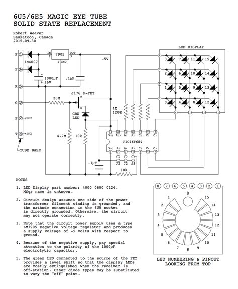 solid state replacement for 6u5 6e5 magic eye