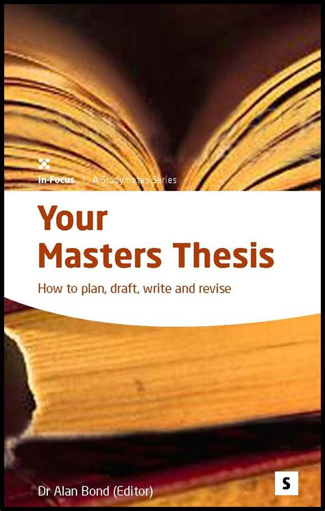 masters thesis   plan draft write  revise