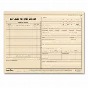 employee records jackets letter size personnel files With file jackets letter size