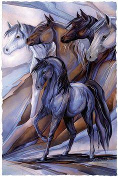 great horsey prints images custom fabric horses