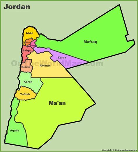 administrative map  jordan