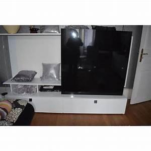 Meuble Bas Salon : meuble bas tv salon conforama excellent etat noir et blanc ~ Teatrodelosmanantiales.com Idées de Décoration