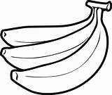 Banana Coloring Pages Fruits sketch template