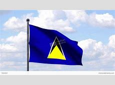 Animated Flag Of St Lucia Stock Animation 1924321