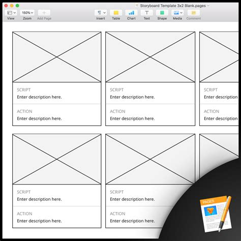 Design Storyboard Template by Free Storyboard Templates For Apple Pages Plot