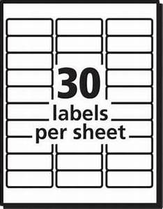 Averyr 1 x 2 5 8 weatherproof laser shipping labels for Half sheet shipping label template