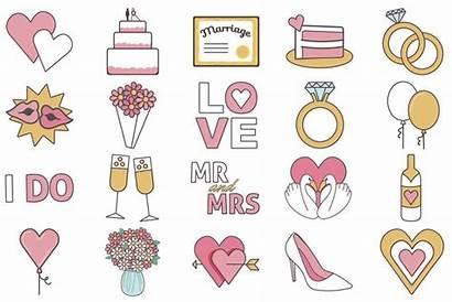 Bachelorette Clipart Clip Party Shower Bridal Icons
