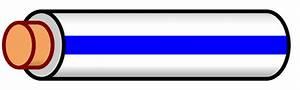 File Wire White Blue Stripe Svg