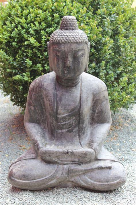 buddha figur steinfigur f 252 r den garten japan garten buddha sitzend stein buddha ebay