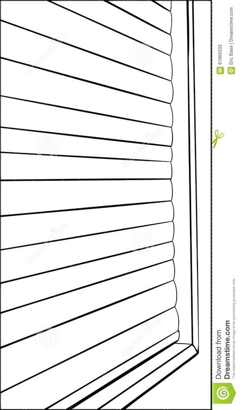 Outline Of Closed Window Blinds Stock Illustration - Image