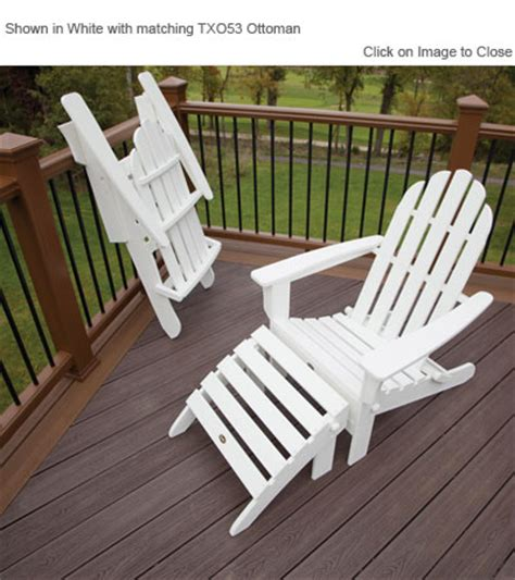 trex 174 txa53 cape cod folding adirondack chair polywood