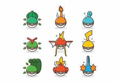Pokemon Vector Type Icon Vectors Clipart Ball