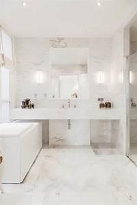 Salle De Bain Marbre Blanc : salle de bain marbre blanc pour afficher une classe intemporelle salle de bain pinterest ~ Nature-et-papiers.com Idées de Décoration
