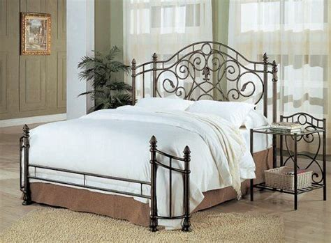 Iron Headboards And Footboards by Coaster Size Antique Gold Finish Metal Bed Headboard