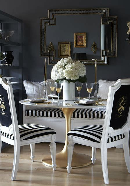 black  white dining room eclectic dining room