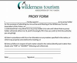 proxy form With proxy vote form template
