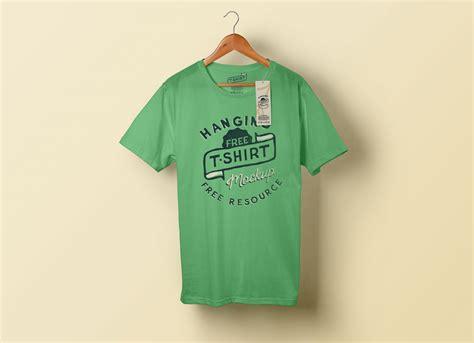 hanging  shirt clothing tag mockup psd good mockups