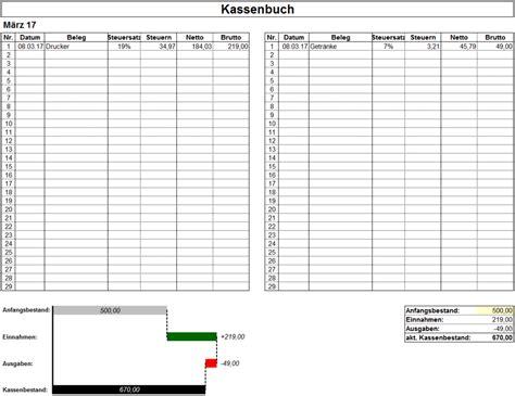 excel vorlage kassenbuch mit business chart hanseatic