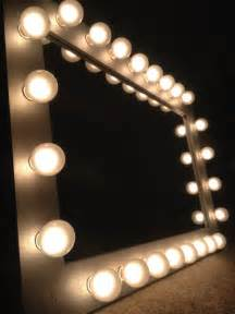 Vanity Mirror With Light Bulbs Around It by Silver Makeup Vanity Mirror With Optional White Satin