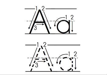 handwriting freebie  smartboard letter formation