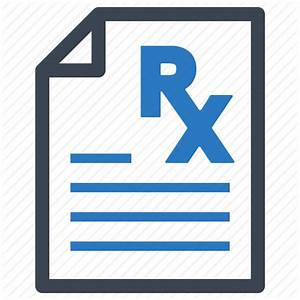 Medical file, pharmacy, prescription, treatment icon ...