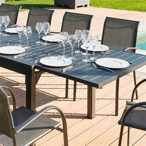 Table De Jardin Extensible Aluminium : table de jardin extensible aluminium piazza 270 x 90 cm graphite salon de jardin table et ~ Melissatoandfro.com Idées de Décoration