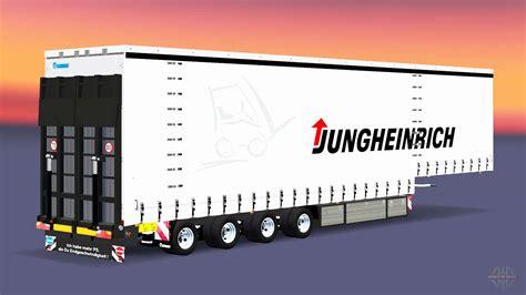 axle curtain semi trailer krone  euro truck