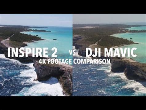 dji mavic  dji inspire   footage comparison    difference youtube