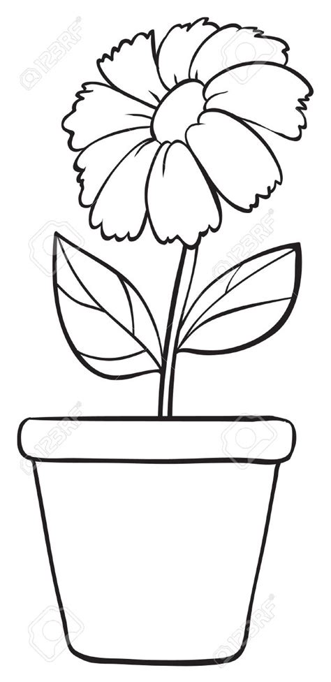 Flower Pot Template Top 10 Flower Pot Template Coloring Pages Free Coloring
