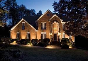 light up the night rock spring design group llc With outdoor lighting for brick house