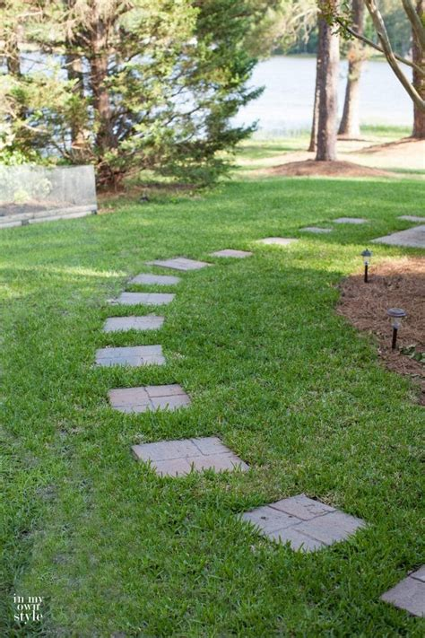 simple paver walkway in my own style