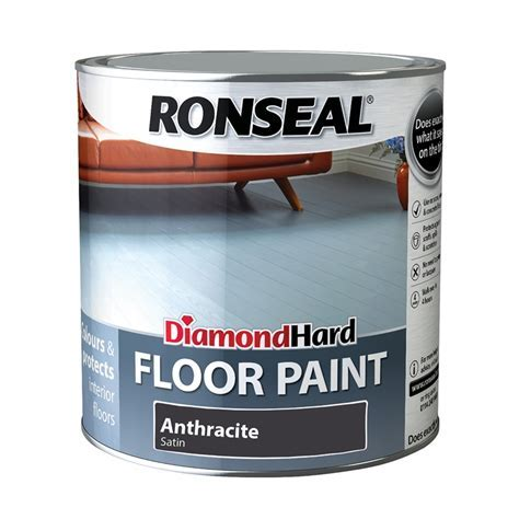 Ronseal Diamond Hard Floor Paint Anthracite   2.5L at