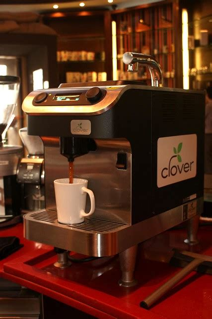 Let's say you are a customer, when you order for a cup of clover coffee, the barista will ask you to pick some coffee. Clover Coffee Machine | Flickr - Photo Sharing!