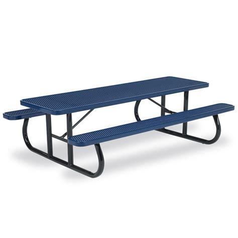 steel picnic table frame 8 39 rectangular expanded steel table portable frame