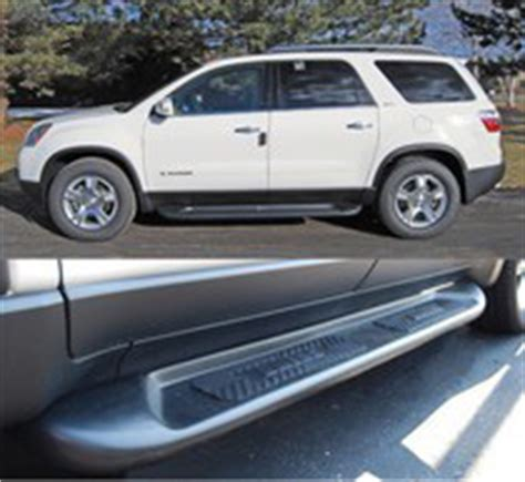 gmc acadia running boards  andys auto sport